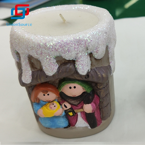 Wholesale Private Gift Box Ceramics Candle Christmas Pattern For Sale