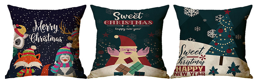 Xmas Throw Pillow Pillowcase Decorative Cushion Cover Sofa Pillowcase