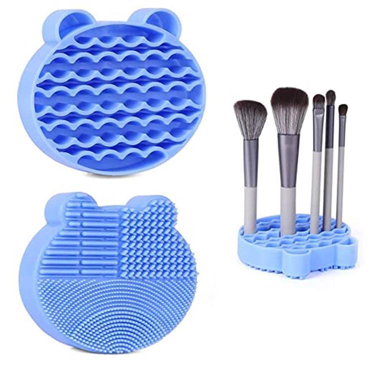 2 w 1 gąbka do usuwania kolorów stojak do suszenia podkładka do czyszczenia makijażu