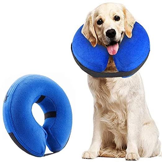 Регулируема мека надуваема кучешка защитна яка за възстановяване на домашни любимци