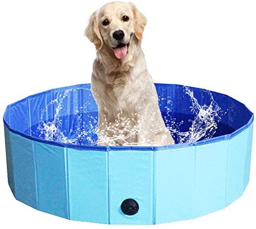 Sammenklappeligt foldbart PVC kæledyr hund badekar værktøj