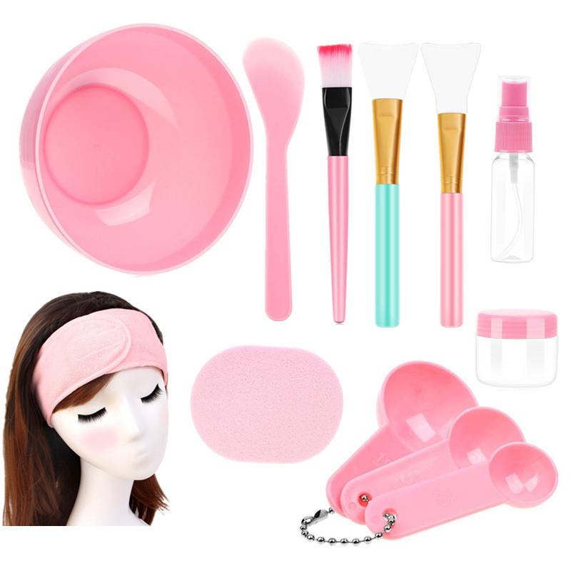 DIY Facial Care Mixing Face Mask ชามผสมและชุดเครื่องมือ
