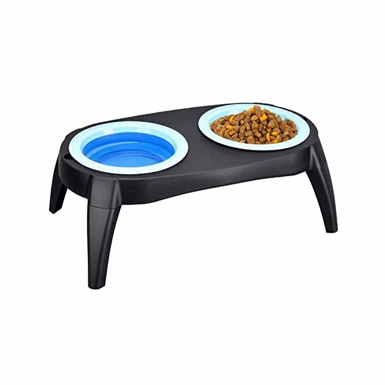 Bols pour chien de chargeur de chat surélevés pliables à double surélevé