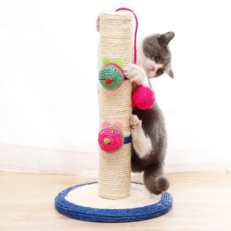 Poteau à gratter en sisal pour chat durable