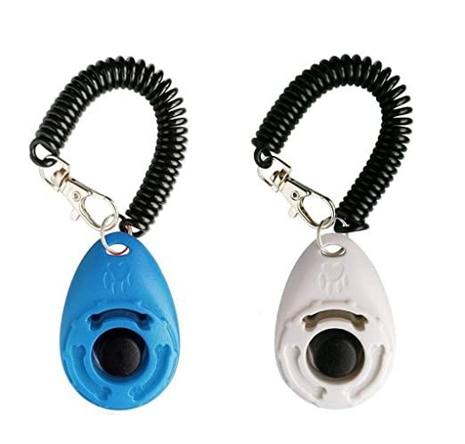 Clicker eficient pentru antrenamentul câinilor de companie cu curea de încheietura mâinii