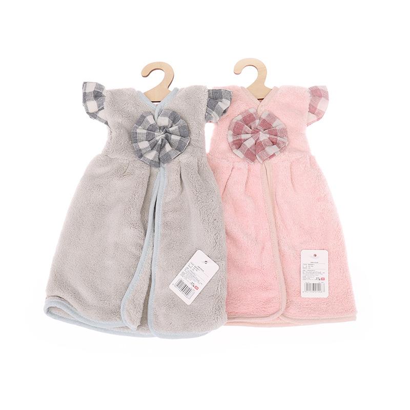 Serviette à main style mini-jupe fleurie