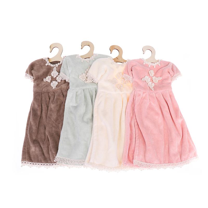 Τέσσερις δαντέλες λουλουδιών μίνι φούστα στυλ πετσέτα