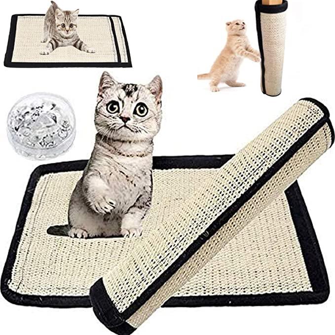 သဘာဝကြမ်းပြင်ခြစ်ရာ Pad Rug Sisal Cat Scratch Mat