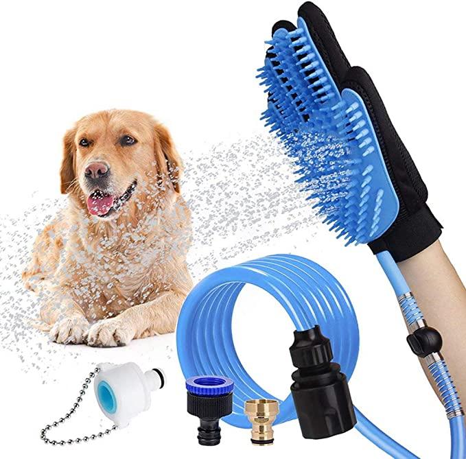 Kæledyrsbadeværktøj Hundevaskesæt Massage Grooming Handske