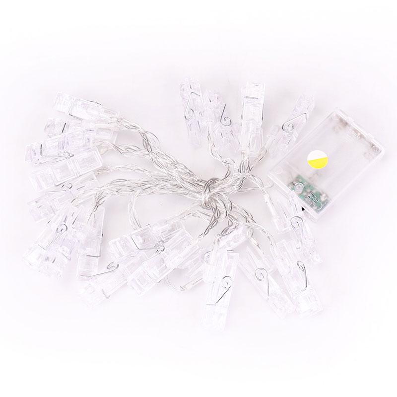 Plastová dekorácia strmeňom LED svetiel