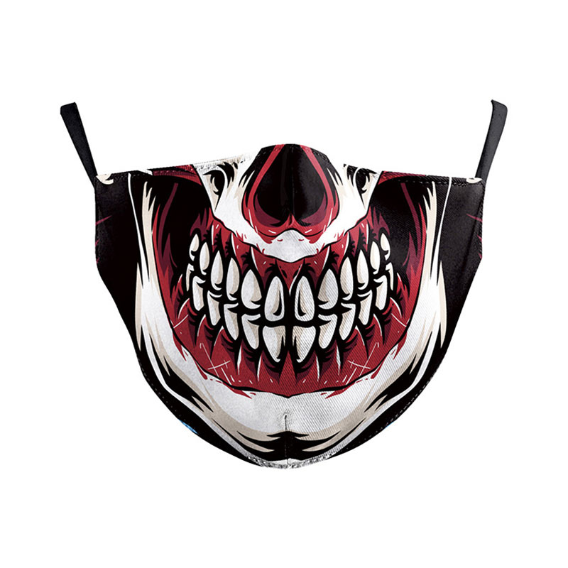 PM2.5 Cosplay Print Washable Face Mouth Cover