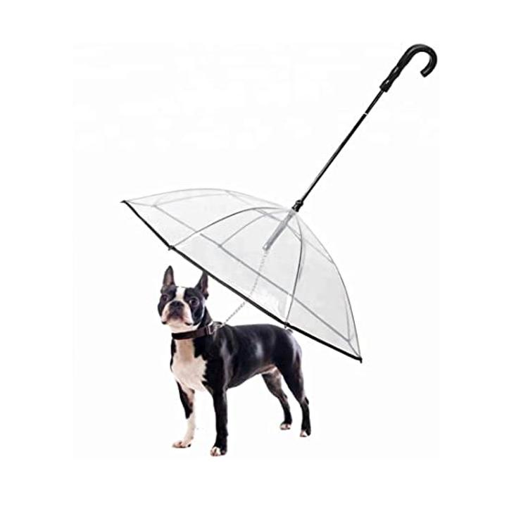 Puppy Raincoat Transparent Pet Dog Paraply med Leah Holder