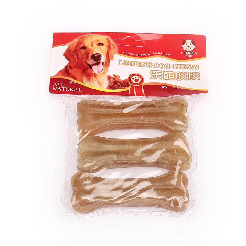 Žuvačka pre psov s lisovaným kosťou v surovom tvare