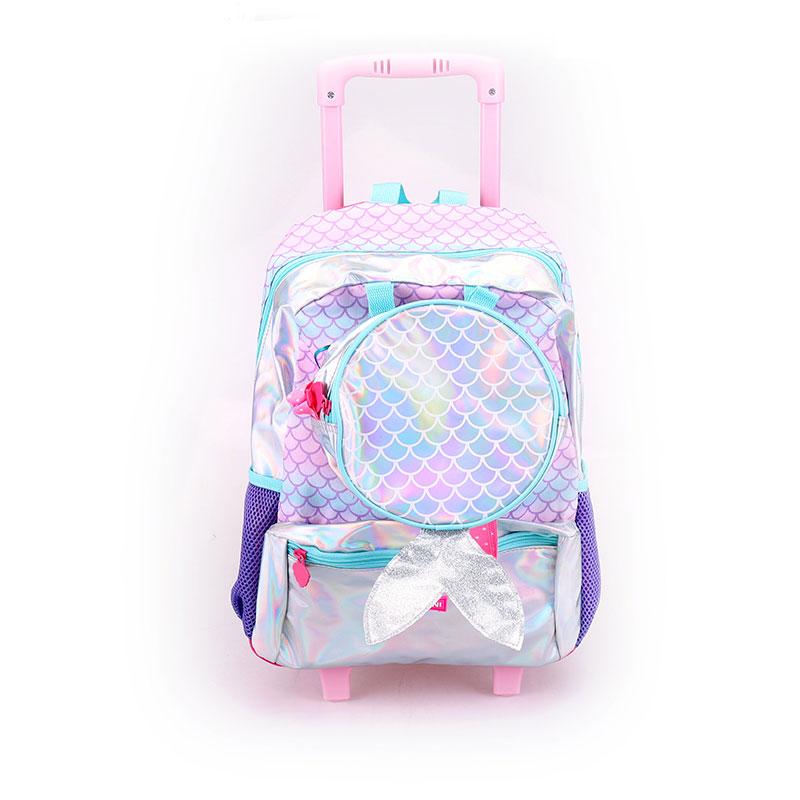 Rod taske til studerende på skolen