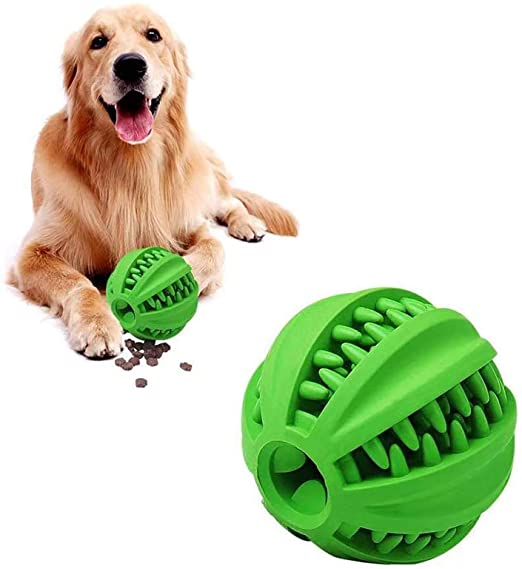 Rubber Interactive Dog Treat Ball