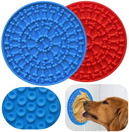 Силиконовый коврик для ванны с медленным кормлением для домашних животных