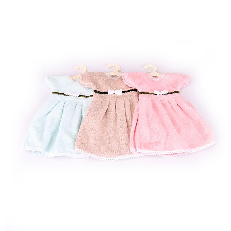 Serviette à main style mini-jupe avec petit nœud papillon