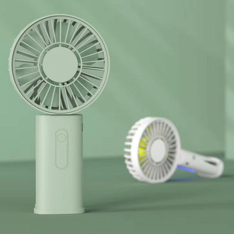 Вертикален мини вентилатор с държач и клип за телефон
