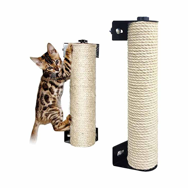 Wall Mount Sisal ခြစ်ရာ Post Post Claw Climber