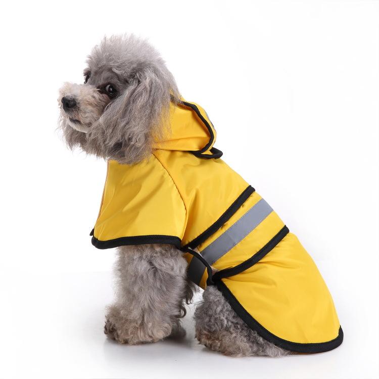 Wodoodporna odblaskowa kurtka przeciwdeszczowa z kapturem dla zwierząt Płaszcz przeciwdeszczowy dla psa