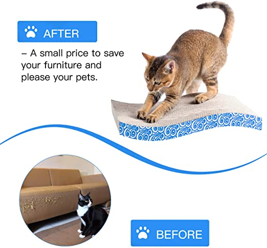 Wave Curved Corrugated Cat Scratcher Cardboard