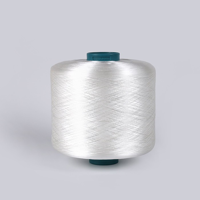 Bright white FDY polyester yarn