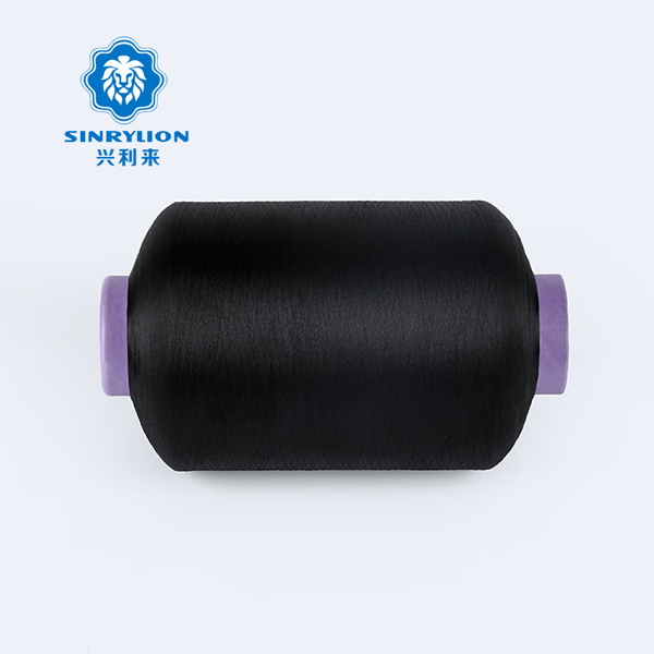 Dope Dyed Black Polyester Twisted Yarn