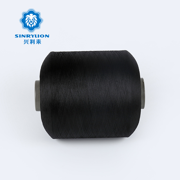 Dope Dyed Black Recycled Polyester Yarn