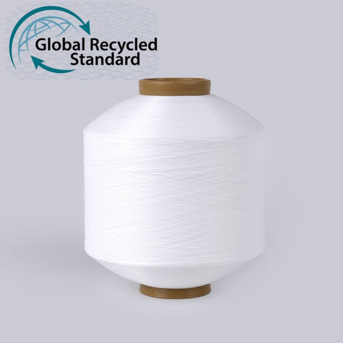 Factory Price recycle recycled 75D dty textured polyester pet bottle sock filament yarn with grs certificate for knitting