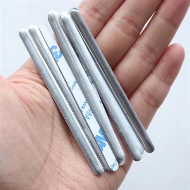Fabricante Ubicación externa clip de alambre de aluminio plano de aluminio con adhesivo 3M para mascarilla KN95 N95