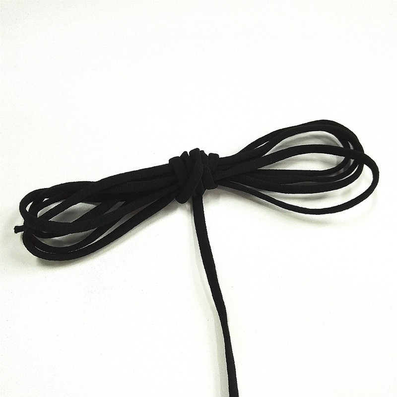 Manufacturers 4mm 5mm Black Flat elastic band