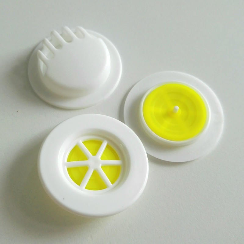 Plastic white exhalation exhaust 3pcs per set KN95 N95 PM2.5 suction control breather filter valve for facemask