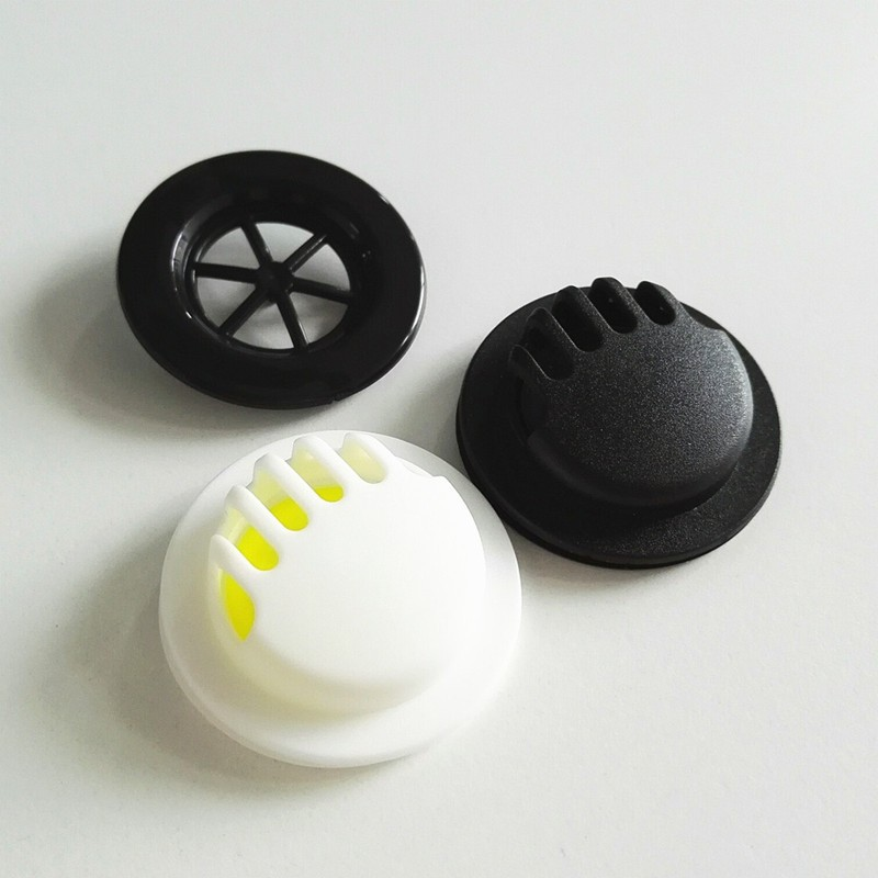 Stock durable Black colors face mask kn95 plastic one way breathing air vent valve with rubber film for kn95