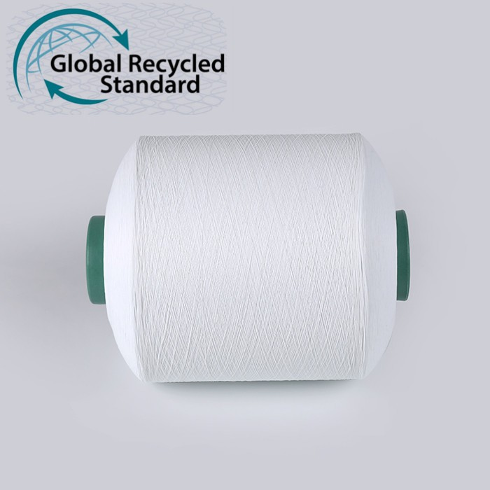 Supplier Eco Friendly feature 100% Polyester Material and AA GRADE Evenness recycle polyester yarn FDY 50D/600TPMZ recycled PTY yarn