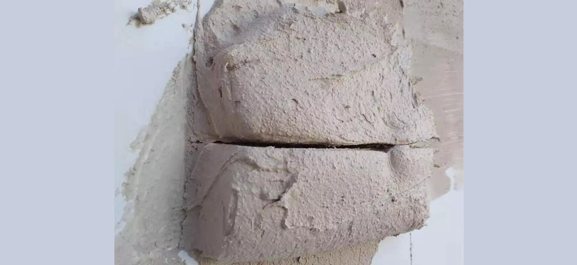 Experimental detection effect of hydroxypropyl methylcellulose HPMC applied in gypsum mortar