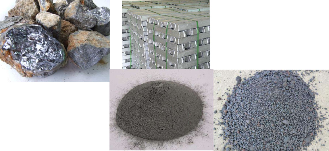 Raw materials for the production of zinc oxide