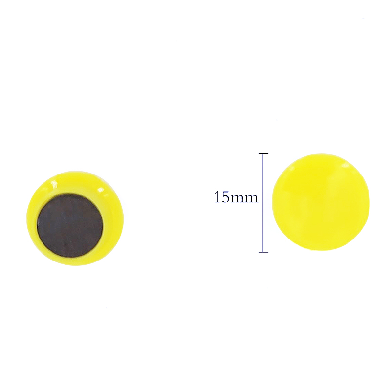 Magnet Warna Solid Bulat 15mm