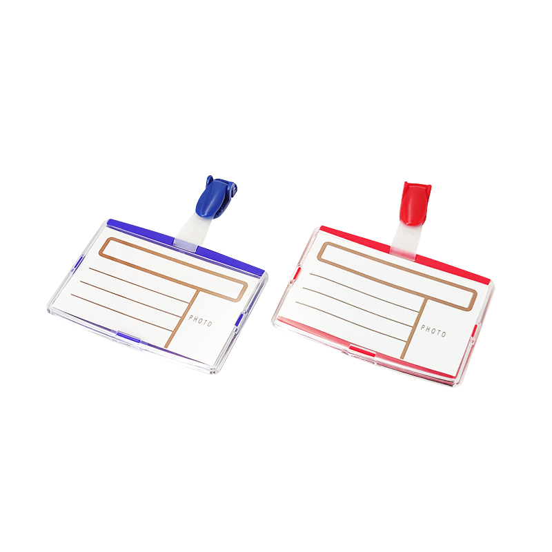 Clear Name Badge With Plastic Clip