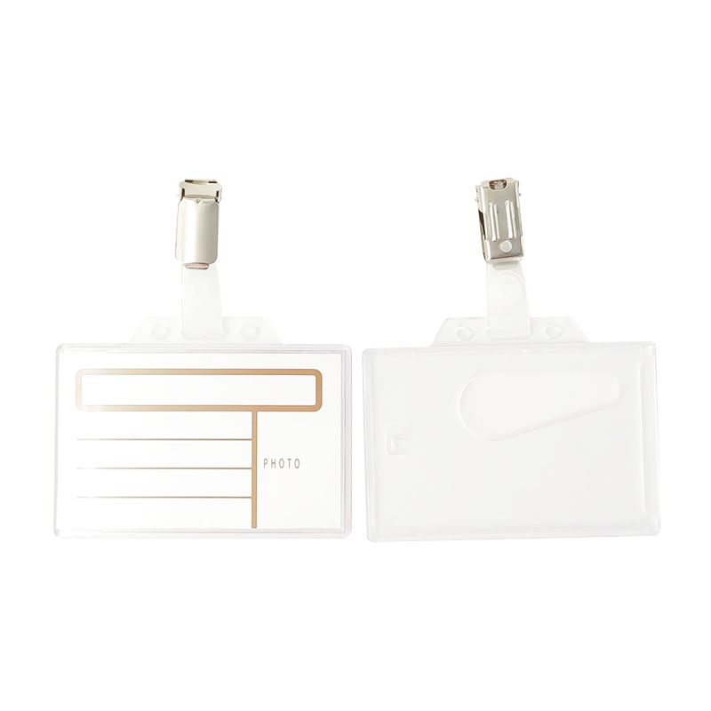 Injection Moulding Name Badge With Metal Clip
