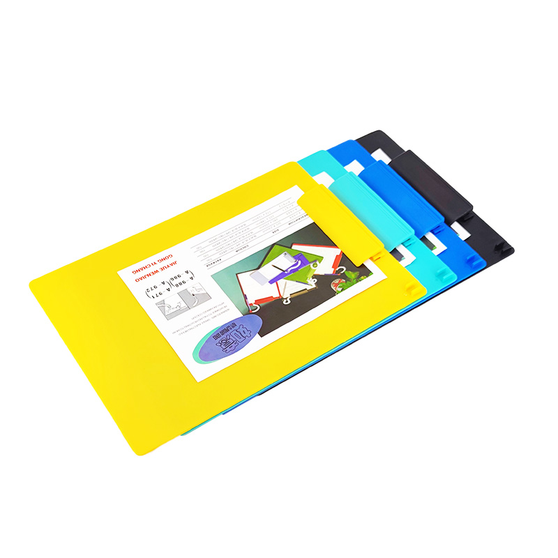 Solid Color A4 Plastic Clipboard