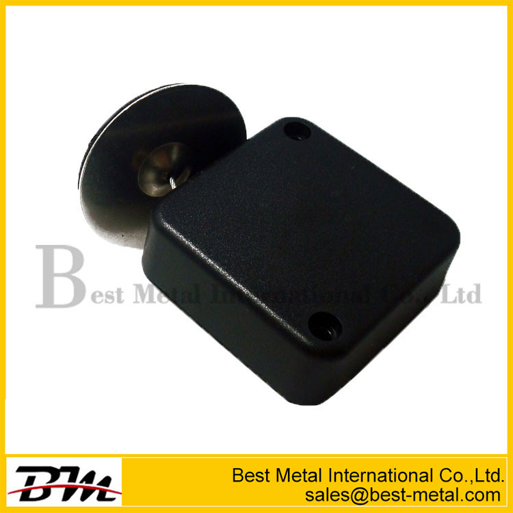 Anti-Theft Security Tether Steel Cable Retractable Pull Reel Box With Lasso