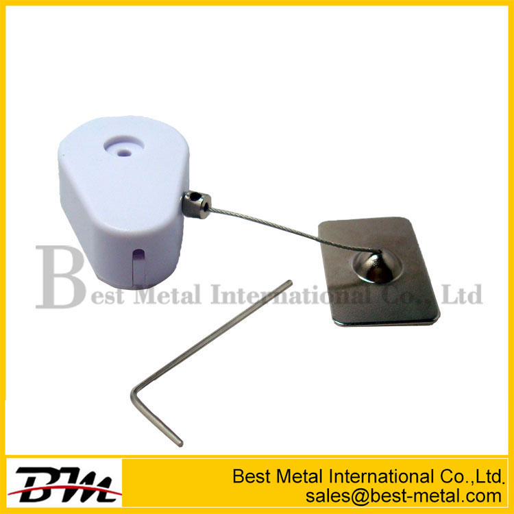 Black Retractable Anti-Theft Steel Tether Pull Box Reel