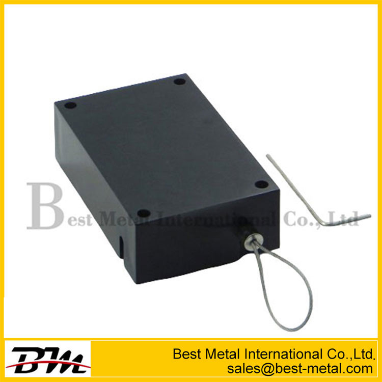 Cuboid Anti-Theft Display Cable Retractor With Magnetic Clasps Holder End For Mobile Phone Retail Security Display