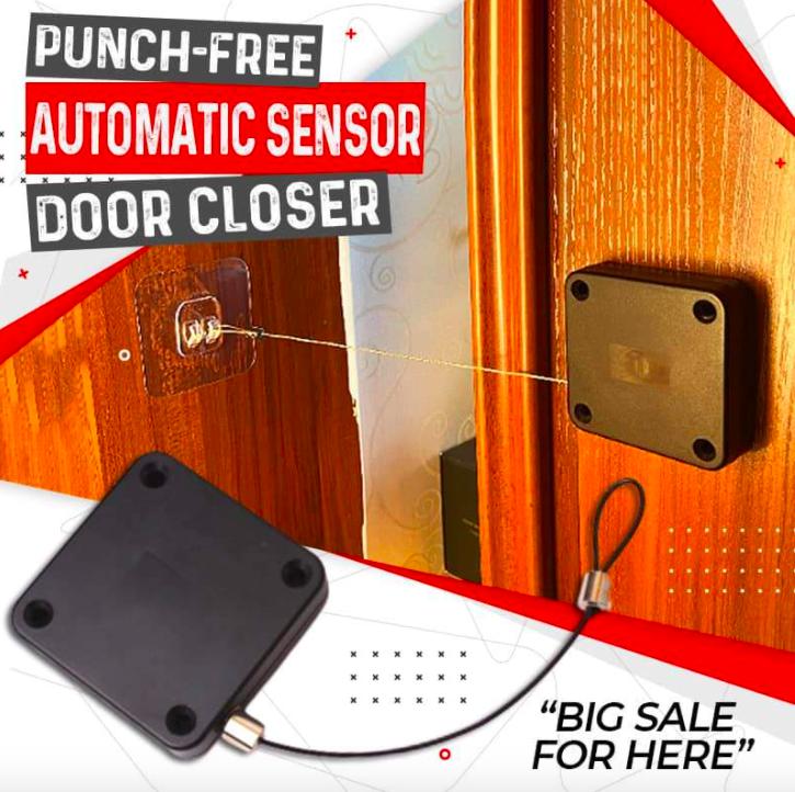 Punch-Free Automatic Sensor Door Closer Portable