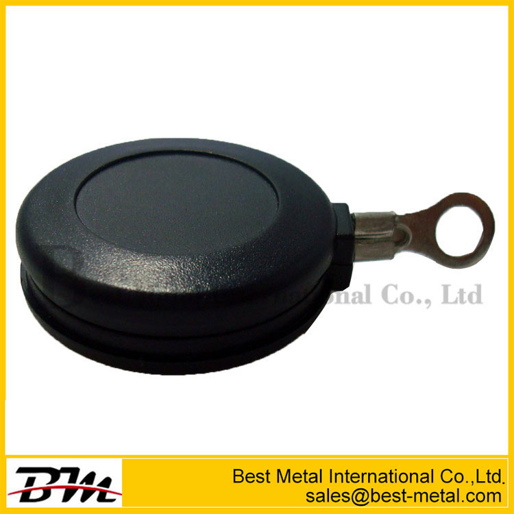 Mini Round Anti-Theft Display Retractors With Metal Sticking Plate End