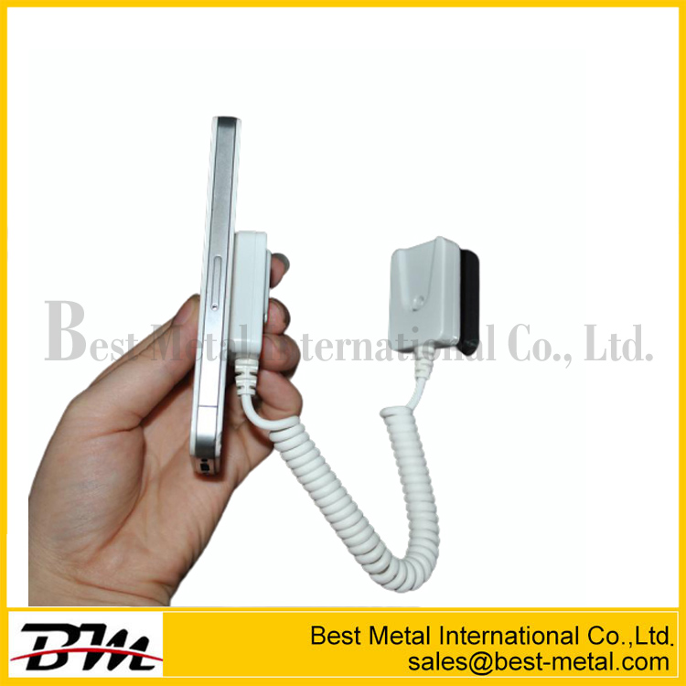 Phone Security Display Alarm System Flexible Cellphone Secure Recoiler Stand Simple For Shop With Security Cable