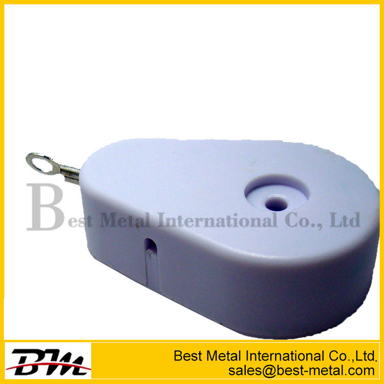 Plastic Teardrop Pullbox Anti-Theft Tether With Metal Plate Endfitting