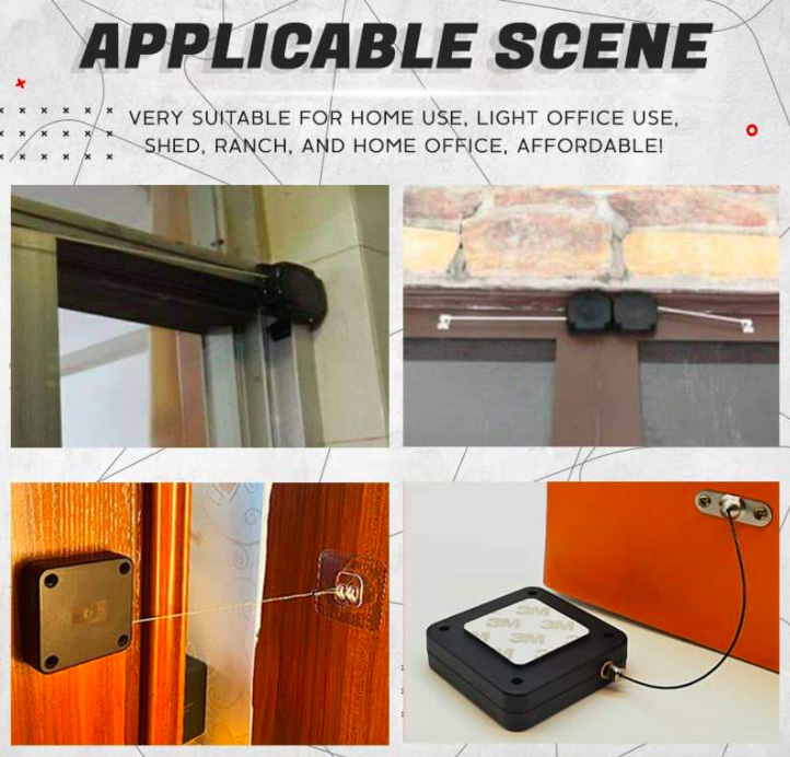 Punch-Free Automatic Sensor Door Closer Portable Home Office Doors Off