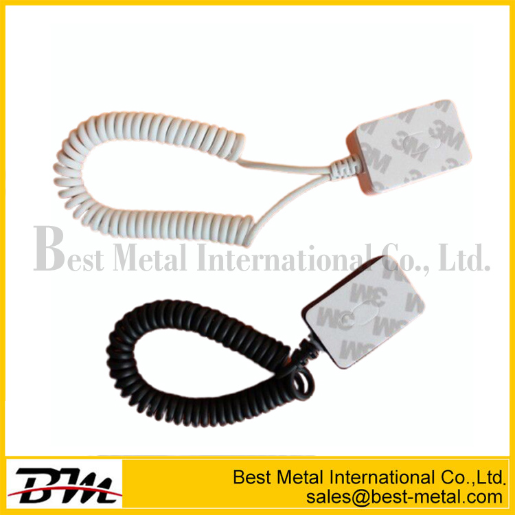Recoiling Tether For Mobile Phone Or Shaver Display