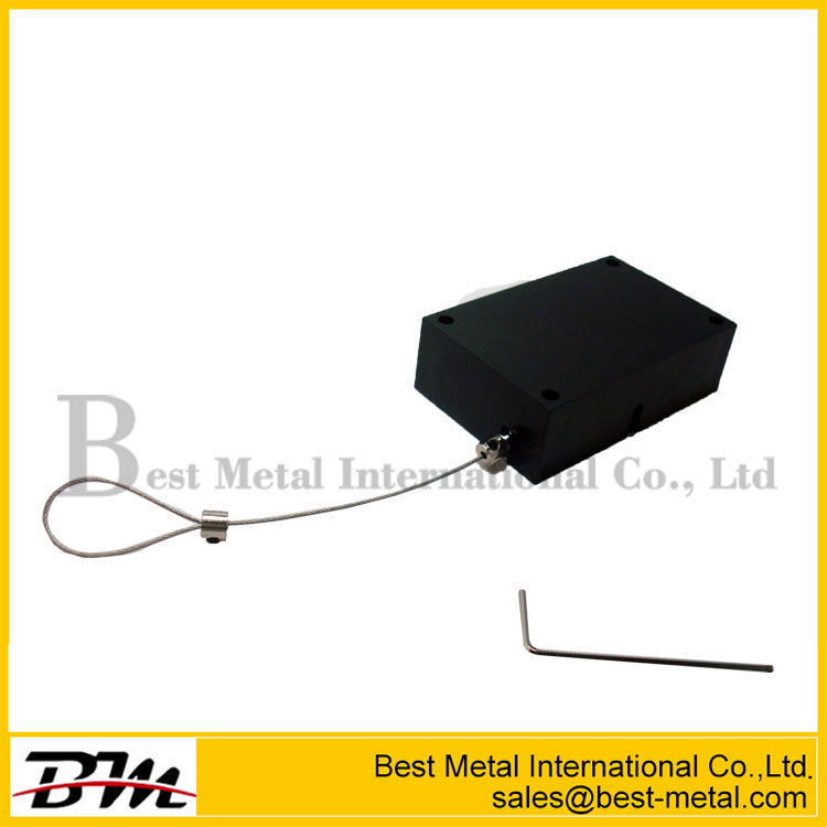 Retail Shop Square Shape Retractable Anti-Theft Pull Box Recoiler